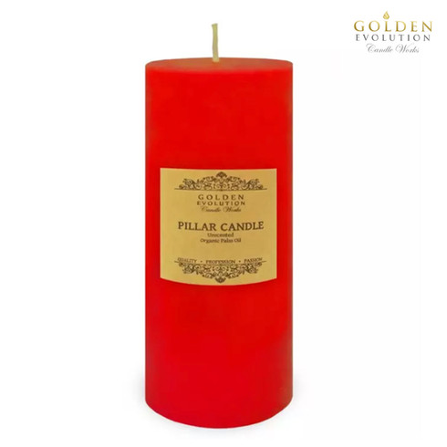 """Unscented 3"""" x 9"""" Red Pillar Candle"""