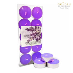 Lavender Scented Tealight Candle 10 PCS in PVC Box (Purple)