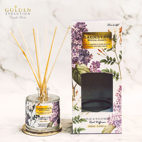 150ml Garden Path Reed Diffuser Home Fragrance - Lilac & Wild Rose