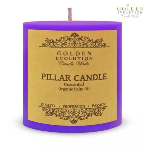 "Unscented 3"" x 3"" Purple Pillar Candle"