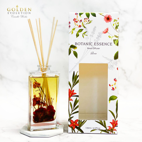 135ml Botanic Essence Reed Diffuser Home Fragrance - ROSE