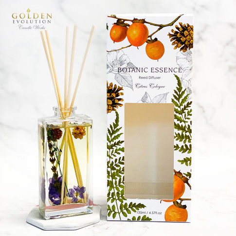 135ml Botanic Essence Reed Diffuser Home Fragrance - CITRUS COLOGNE