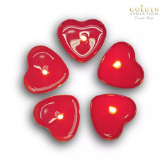 50 PCS Scented Love Tealight Candle (Red)