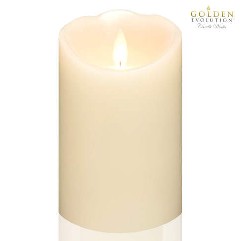 Flickering LED Flameless Real Wax Candles *15.5cm Height x 7.6cm Diameter*