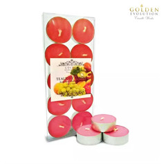 Assorted Fruits Scented Tealight Candle 10 PCS in PVC Box (Red)