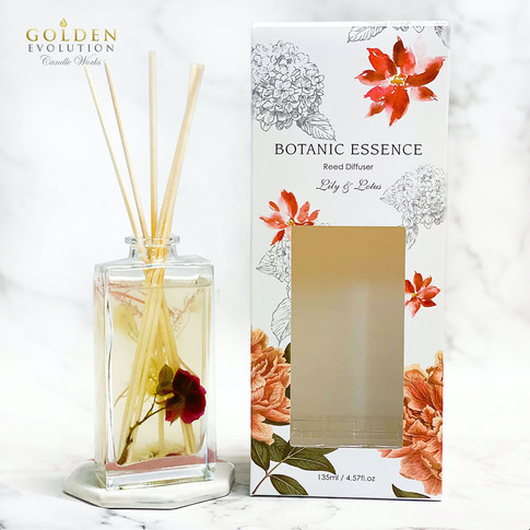 135ml Botanic Essence Reed Diffuser Home Fragrance - LILY & LOTUS