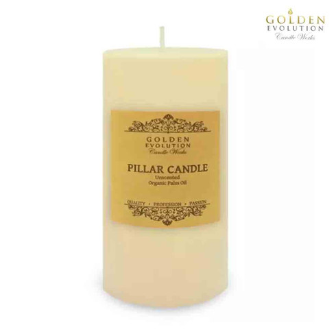 """Unscented 3"""" x 6"""" Ivory Pillar Candle"""