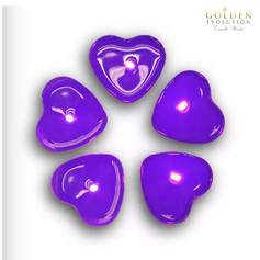 50 PCS Scented Love Tealight Candle (Purple)
