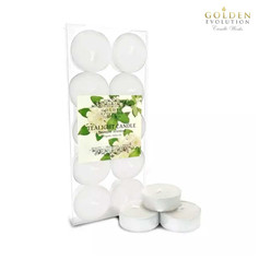 Jasmine Scented Tealight Candle 10 PCS in PVC Box (White)