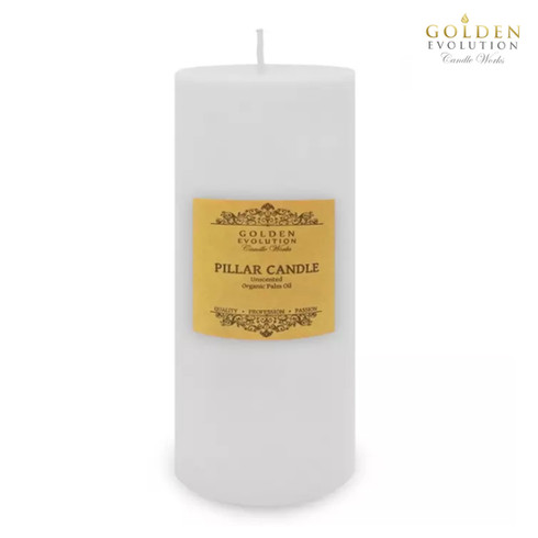 """Unscented 3"""" x 9"""" White Pillar Candle"""