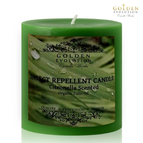 Insect Repellent Citronella Scented Pillar Candle