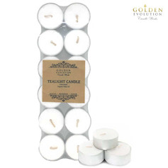 12 PCS 8 Hours Burning Unscented Palm Tealight Candles