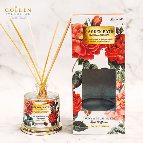 150ml Garden Path Reed Diffuser Home Fragrance - Peony & Blush Suede