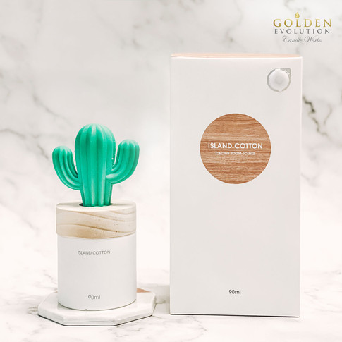 90ml Cactus Solid Air Freshener - ISLAND COTTON