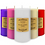 """Thumbnail: GE Candle Works [Set of 3] Unscented 2"""" x 4"""" Pillar Candle (White)"""