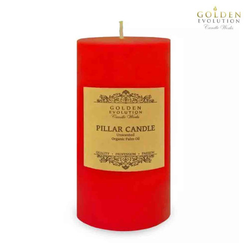 """Unscented 3"""" x 6"""" Red Pillar Candle"""
