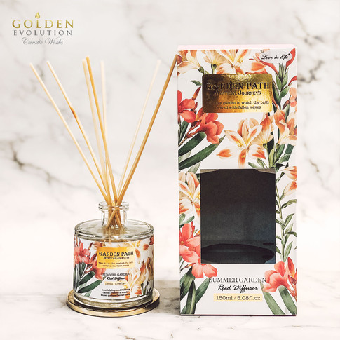 150ml Garden Path Reed Diffuser Home Fragrance - Summer Garden
