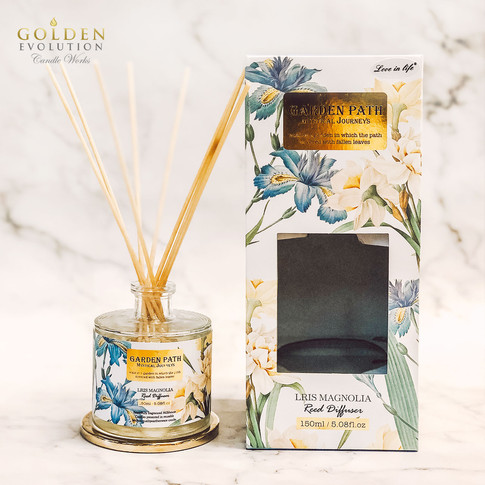 150ml Garden Path Reed Diffuser Home Fragrance - Iris Magnolia