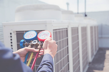 Air conditioning repair recharging