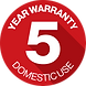 Warranty Badge Round - Domestic Use 5 Ye