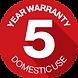 Warranty Badge Round - Domestic Use 5 Ye