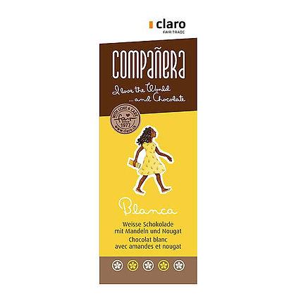 Chocolat blanc amande nougat BLANCA 50g