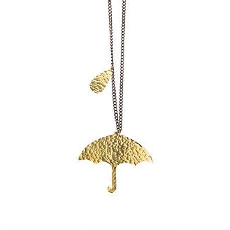 Brass Umbrella Necklace