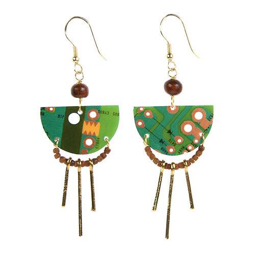Upcycled  circuitboard earrings