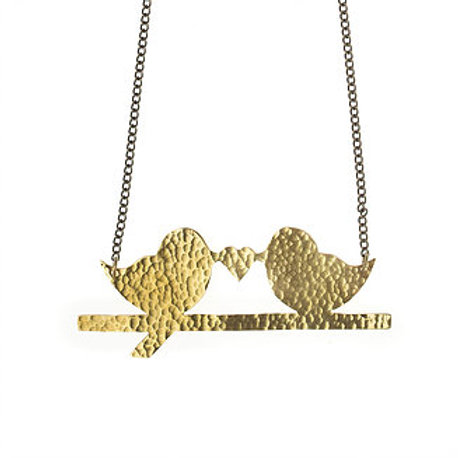 Brass Lovebird Necklace