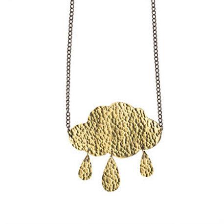 Brass Cloud Necklace