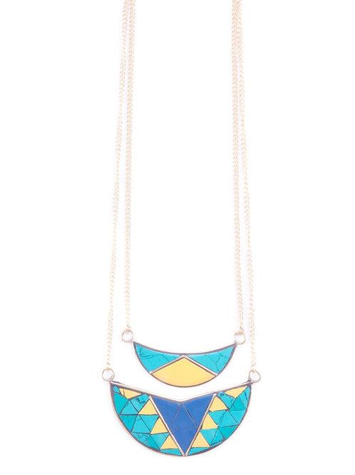Layered Enamel Necklace