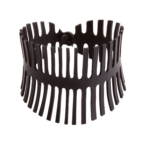 Recycled Rubber Cuff- Fishbone