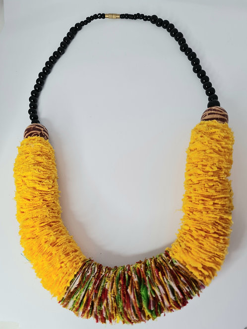 Chunky Necklace made from African Fabric Offcuts