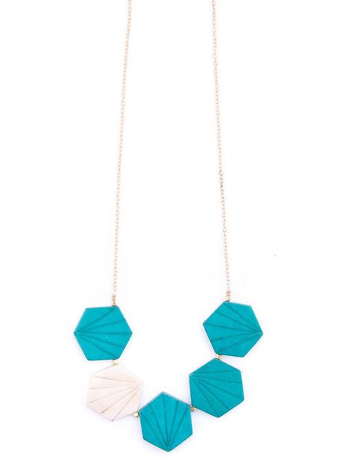 Retro Tile Necklace