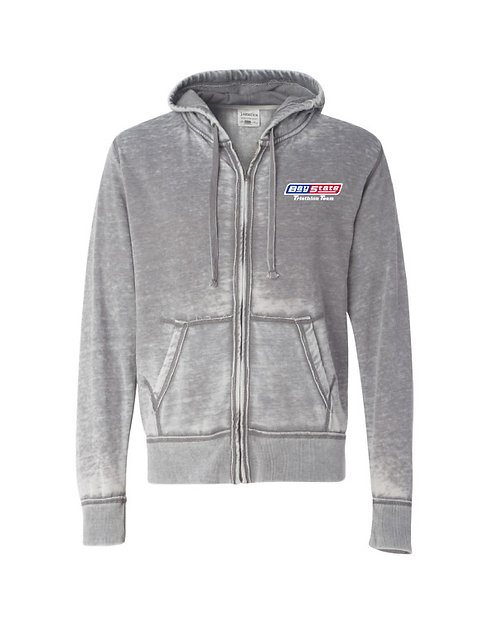 Mens Vintage Zen Fleece Ultra Soft Hooded Zip Sweatshirt