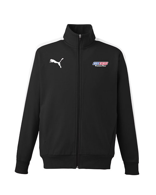 Unisex Puma Sport Fleece Lined Track Jacket Embroidered Logo