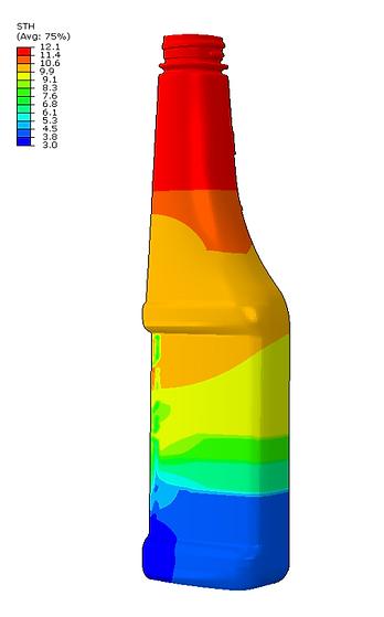 Nylon wt% map of bottle