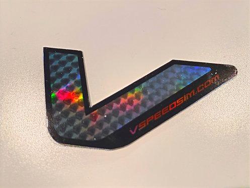 V Holographic Sticker