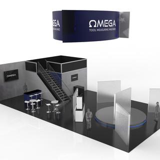 omega tradeshow booth