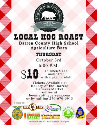 Local Hog Roast Fundraiser
