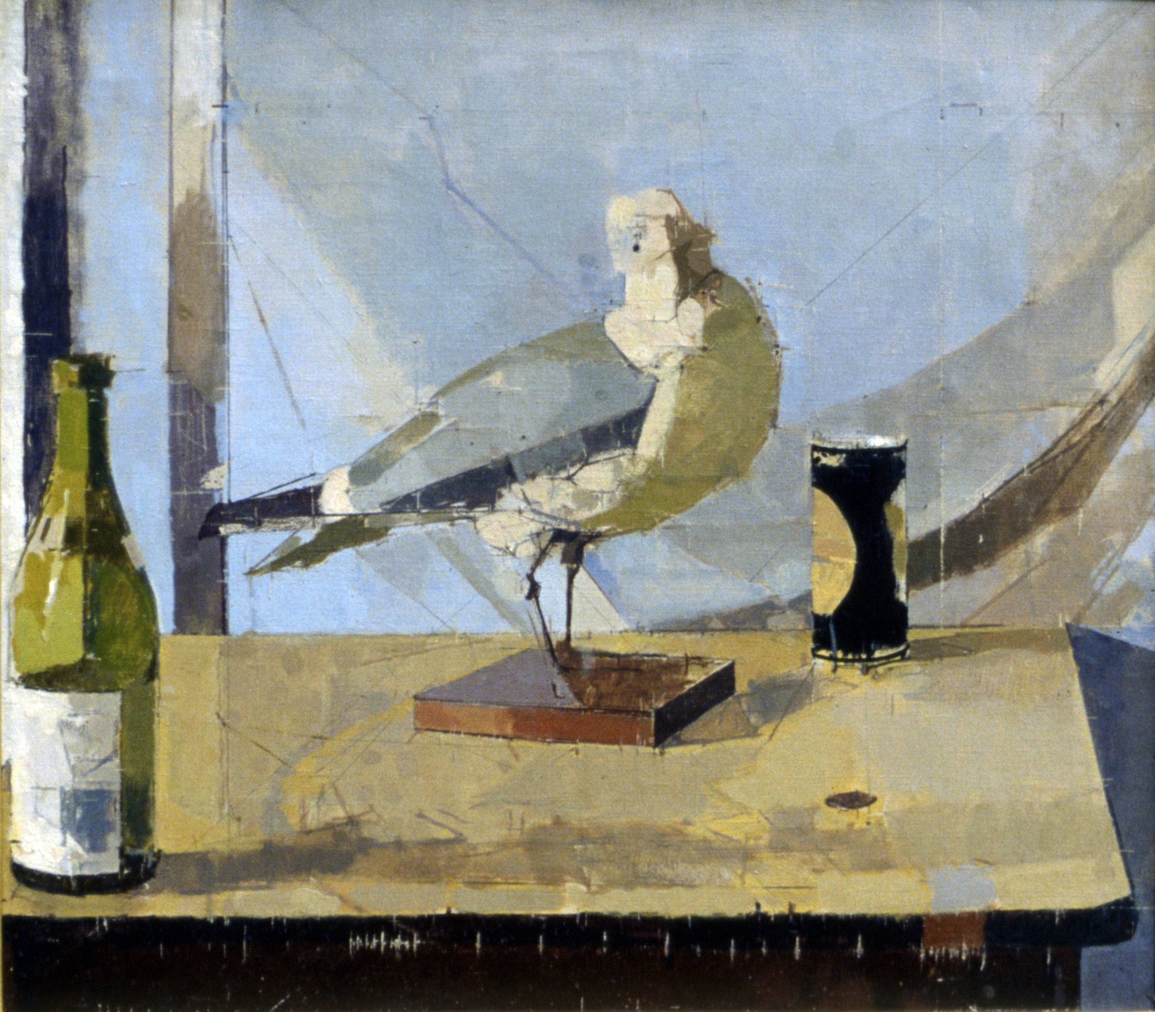 Still Life with Stuffed Bird