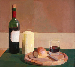 Still Life with Bread and Wine