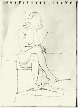 Seated Female Sketch