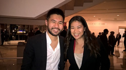 With Conrad Tao, 2015