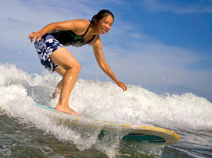 Surfing in Playa Jaco, CR