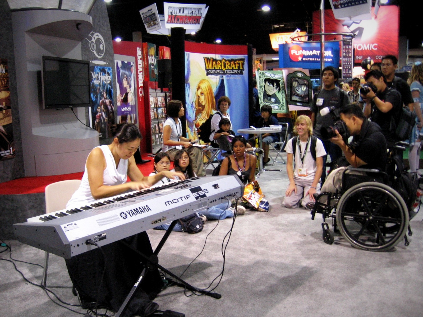 Performing at Comicon for Tokyopop