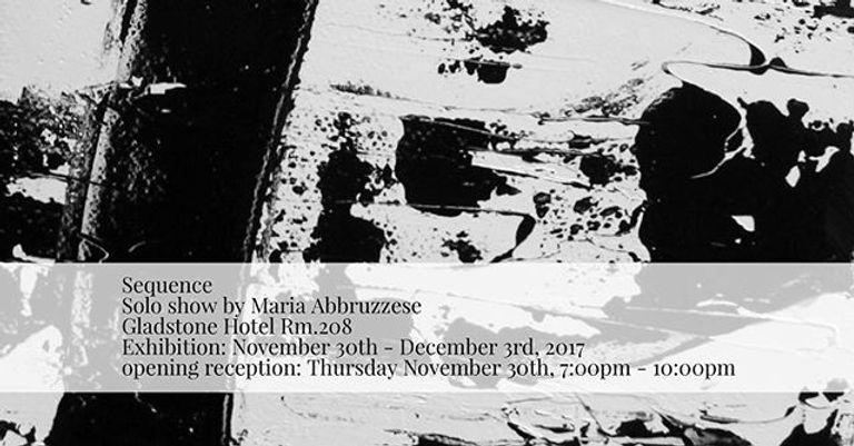 Solo show: Maria Abbruzzese