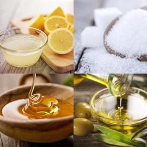 DIY: Lemon, Sugar, Honey, & Olive Oil Scrub!