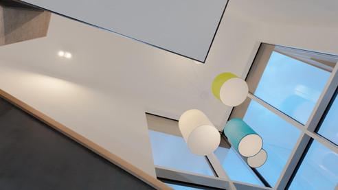 Leuchtenskulptur Therapiezentrum