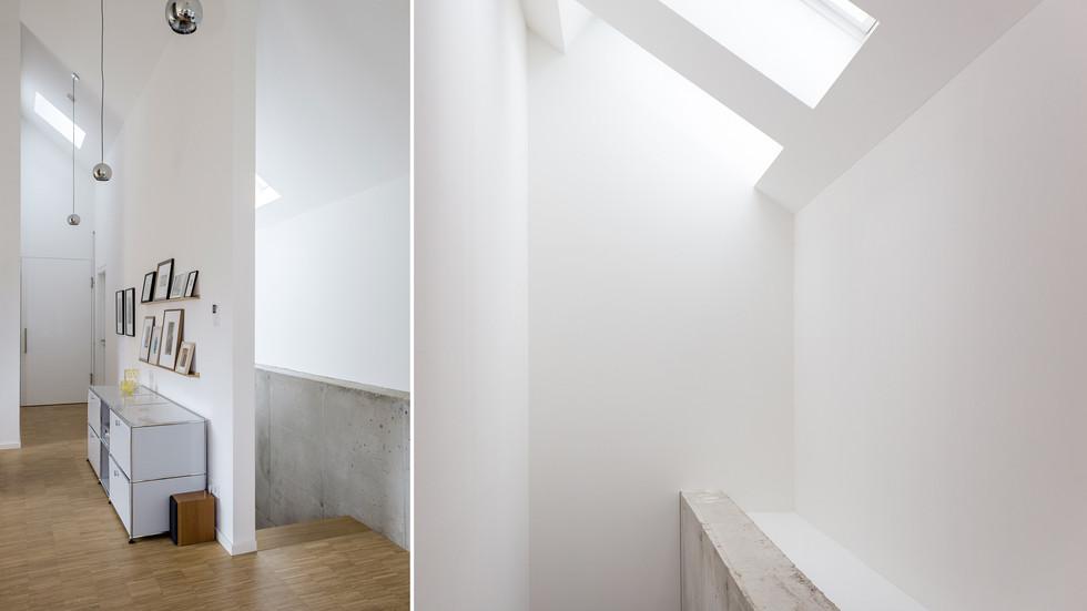 Treppe mit Dachfenster